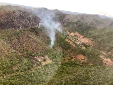 Fogo em Saúde - Fazenda Misteriosa - FOTO Corpo de Bombeiros