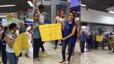 Photo of Sindicatos fazem ato de campanha salarial em agência da Caixa em Salvador
