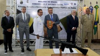 Photo of Governo da Bahia reforça segurança pública com fuzis doados pela Marinha