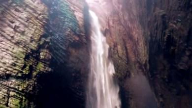 Photo of Chapada: Cachoeira da Fumacinha escondida entre formação rochosa encanta aventureiros