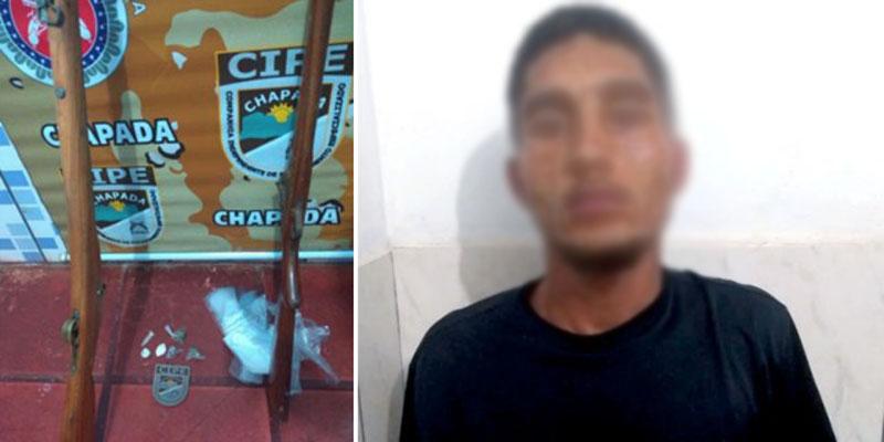 Chapada: Traficante é preso pela Cipe vendendo drogas durante festejos juninos em Iraquara
