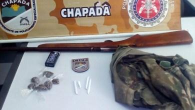 Photo of #Bahia: Cipe-Chapada apreende arma de fogo e drogas após denúncia de tráfico em Milagres
