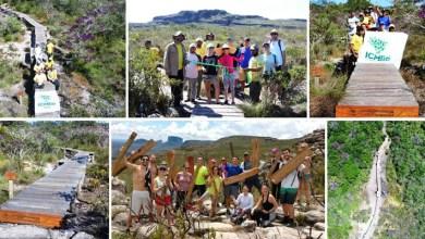 Photo of Chapada: Passarela na trilha da cachoeira da Fumaça é inaugurada por visitantes e ICMBio