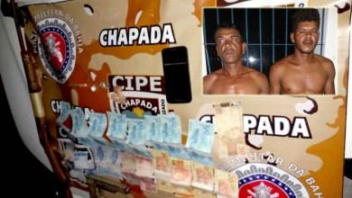 Photo of Chapada: Duas pessoas são presas durante ação da Cipe com armas, drogas e dinheiro em Itaetê