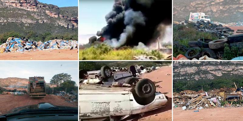 Chapada: Moradores de Mucugê denunciam queimadas em lixão do município; veja vídeos