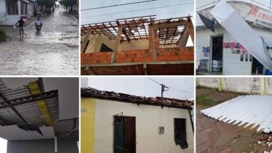 Photo of Chapada: Chuva com vento forte causa transtornos para moradores no município de Pintadas; veja fotos