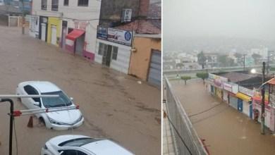 Photo of Chapada: Temporal em Jacobina deixa ruas alagadas e causa transtorno a moradores; fotos e vídeo