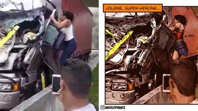 Photo of #Brasil: Mulher que salvou motorista de caminhão em acidente que matou Boechat e piloto vira heroína em ilustração