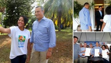 Photo of #Bahia: Estudante eleita governadora mirim acompanha dia de trabalho de Rui Costa