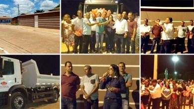 Photo of Chapada: Prefeita Guilma Soares entrega ruas pavimentadas e caçamba nova para a população