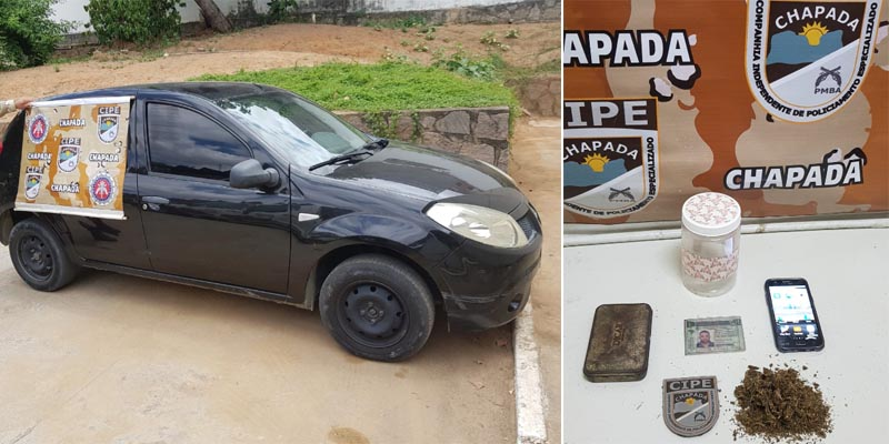 Chapada: Motorista é preso pela Cipe com maconha na estrada entre Itaberaba e Ruy Barbosa