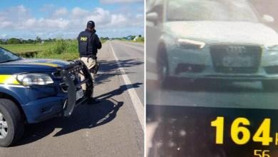 Photo of #Bahia: Carro esportivo é flagrado pela PRF a 164 km/h na BR-324; limite máximo no trecho é de 100 km/h