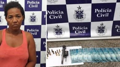 Photo of Chapada: Mulher é presa com arma e mais de mil reais em dinheiro falso no município de Ruy Barbosa