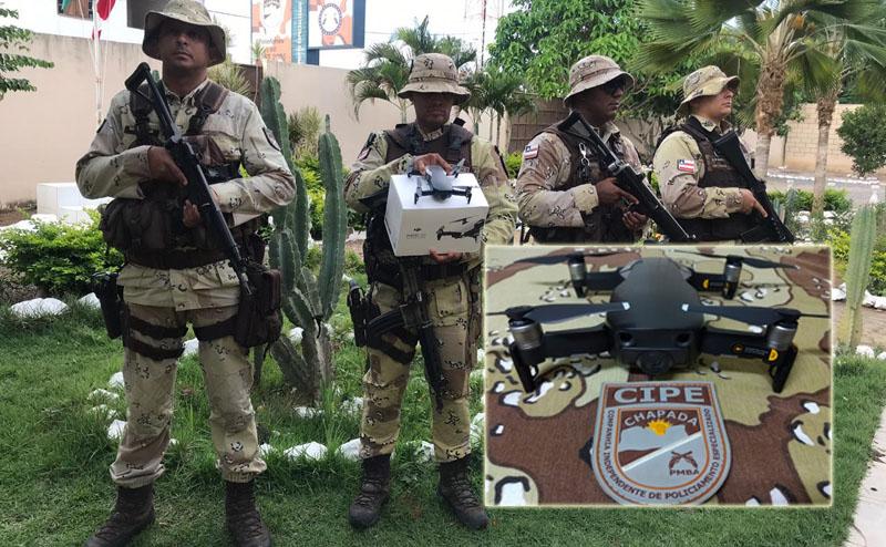 Chapada: Policiais da Cipe contam com drone para monitoramento aéreo no combate ao tráfico