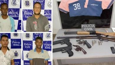 Photo of #Bahia: Policiais apreendem seis armas e prendem quatro pessoas no município de Irecê