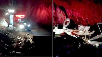 Photo of Chapada: Veículo de carga tomba em estrada entre a sede de Rio de Contas e o distrito de Marcolino Moura