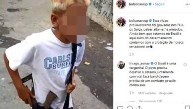Photo of #Polêmica: Filho de Bolsonaro publicou vídeo nas redes sociais com menor de idade carregando fuzil