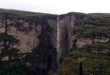 Photo of Chapada: Visitantes registram imagens frontais da queda d'água da Cachoeira da Fumaça; veja vídeo