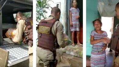 Photo of Chapada: Família em situação de vulnerabilidade recebe ajuda de policiais em Itaberaba; veja vídeo