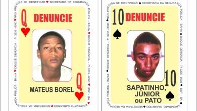 Photo of #Bahia: Polícia atualiza 'baralho do crime' com novas cartas estampando rostos de homicida e traficante