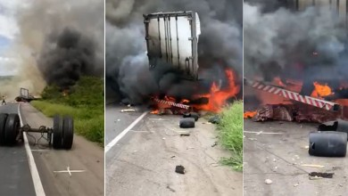 Photo of Chapada: Carreta perde o controle, bate em barranco e pega fogo em Ibitiara; veja vídeos