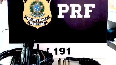 Photo of Chapada: PRF prende passageiro de ônibus com arma e munições na BR-242 em trecho do município de Seabra