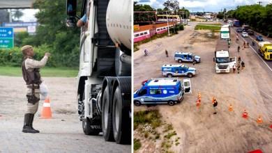 Photo of #Bahia: Policiais militares de Feira de Santana entregam donativos a caminhoneiros durante blitz