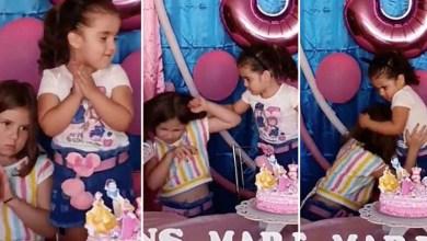 """Photo of #Vídeo: Imagens de irmãs brigando em festinha de aniversário viralizam nas redes; """"Entre tapas e beijos"""""""