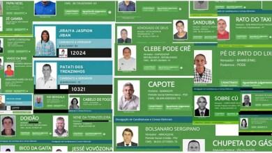 Photo of #Brasil: Candidatos viram meme na internet por nomes inusitados; 'Capitã Cloroquina' e 'Rola' são alguns deles