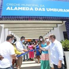 inauguração de creche municipal em itaberaba 2