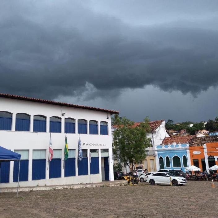 Chuva forte em Lençóis no início desta semana | FOTO: Reprodução/Simone Gomes |
