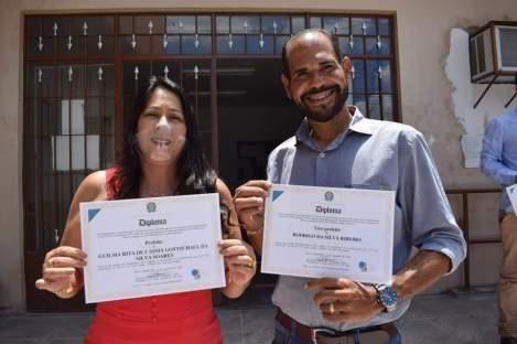 A prefeita Guilma Soares e o vice Rodrigo Ribeiro | FOTO: Divulgação |