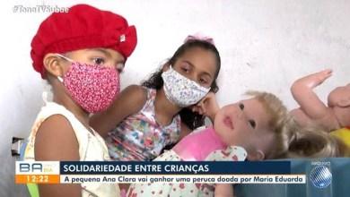 Photo of #Chapada: Menina de sete anos ganha peruca de outra criança após perda de cabelos em tratamento contra o câncer