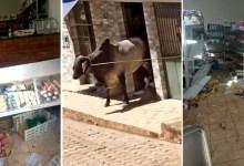 Photo of #Vídeos: Imagens mostram boi que fugiu de fazenda invadindo e destruindo mercearia em cidade de Minas Gerais