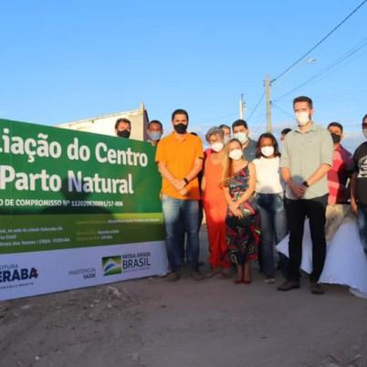 A cerimônia de assinatura da ordem de serviço contou com lideranças políticas locais   FOTO: Divulgação  