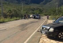 Photo of #Chapada: Acidente envolvendo caminhonete e carro de passeio deixa um ferido em trecho da BA-148 entre Rio de Contas e Livramento