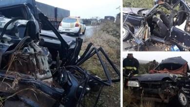 Photo of #Chapada: Três pessoas morrem em grave acidente entre veículos em trecho da BR-242 próximo da entrada de Boninal