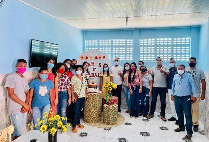 A entrega dos espaços reformados foi realizada pela prefeita Guilma Soares   FOTO: Divulgação/PMNR  