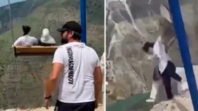 Photo of #Mundo: Mulheres caem do alto de cânion de cerca de 2 km de altura após balanço se romper; veja o vídeo