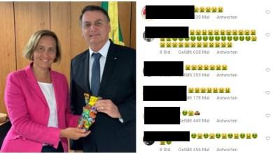 """Photo of #Brasil: Brasileiros """"invadem"""" Instagram da deputada neta de ministro nazista com emojis de vômito"""