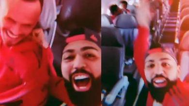 Photo of #Vídeo: Após sensitiva afirmar que avião do elenco do Flamengo ia cair, Gabigol comemora pouso no Rio