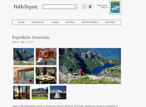 Matéria de turismo na Robb Report Brasil