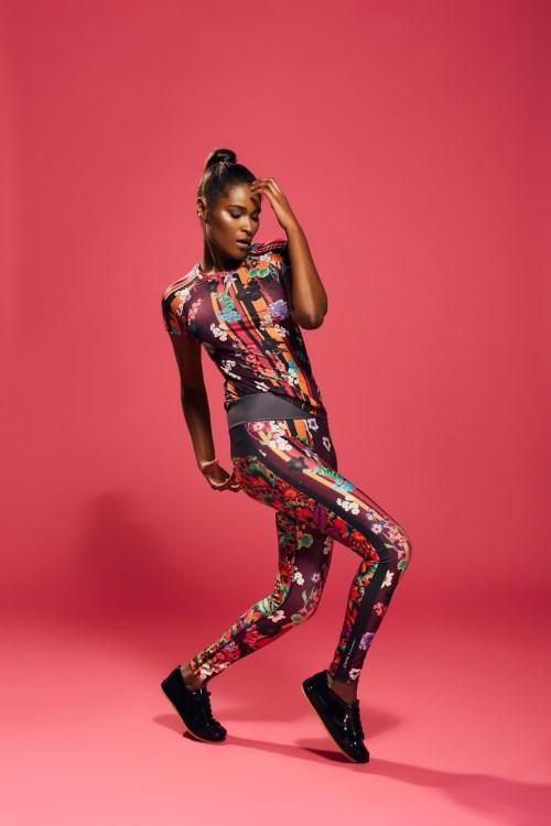 fitwear - legging e camiseta estampada florida fitness clau cicala rala bela