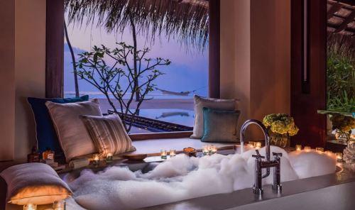 banheira hotel one and only maldivas turismo luxo hotel banheiro com vista