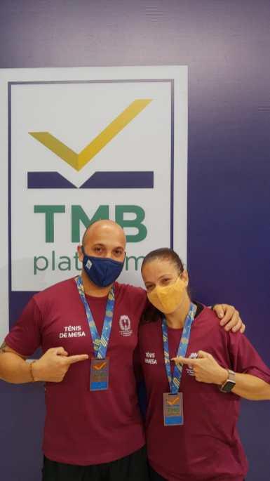 Douglas Rodrigues e Leiriadine Castro comandaram o tênis de mesa na Copa do Brasil