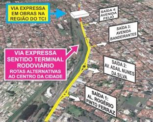 foto10 Rotas alternativas para motorista que preferir desviar de obra na passarela sobre a Via Expressa (1)