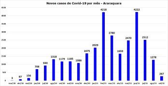 5_novos casos de Covid por mês