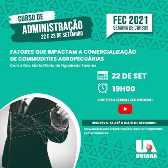 Curso de Administração da Uniara promove lives na programação da 22ª Feira dos Cursos da universidade (1)