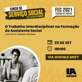 Serviço Social da Uniara promove encontros online sobre perspectivas profissionais na atuação do assistente social (2)