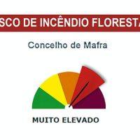 Mafra | Risco de incêndio rural MUITO elevado para a próxima semana